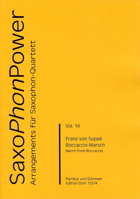 Boccaccio-Marsch fur Saxophonquartett (SATBar)