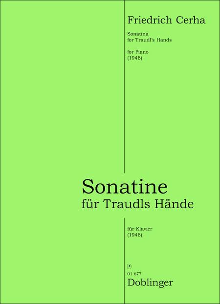 Sonatine fur Traudls Hande