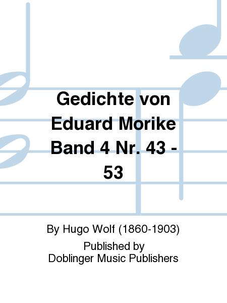 Gedichte von Eduard Morike Band 4 Nr. 43 - 53
