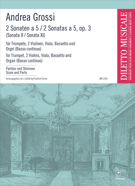2 Sonaten (Sonata decima, Sonata undecima a cinqua)