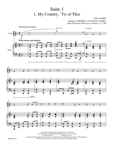 American Suite I (Patriotic Pieces)