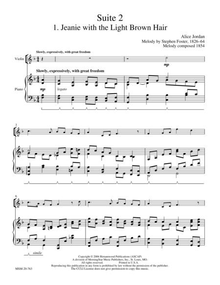 American Suite II (Stephen Foster Melodies)