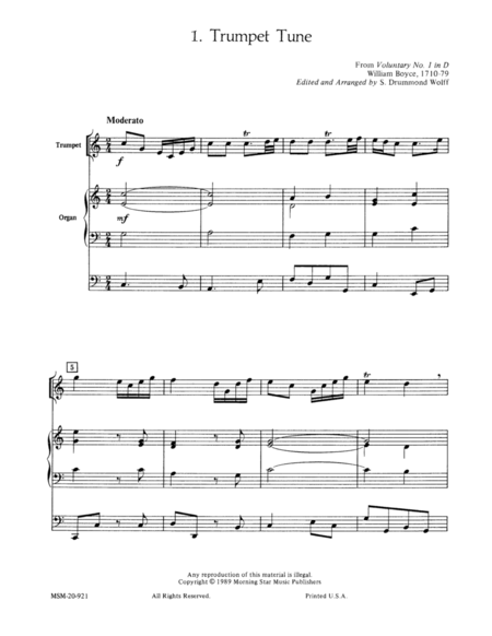Trumpet Tunes for Solo Trumpet and Organ