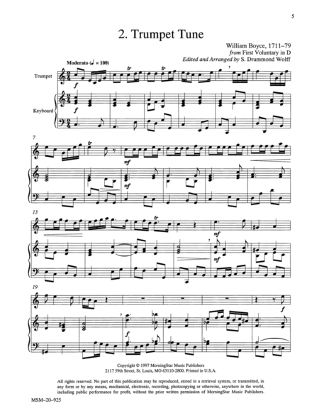 Trumpet Tune from First Voluntary in D