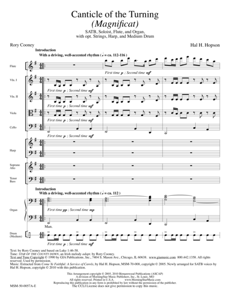 Canticle of the Turning (Magnificat) (Full Score)