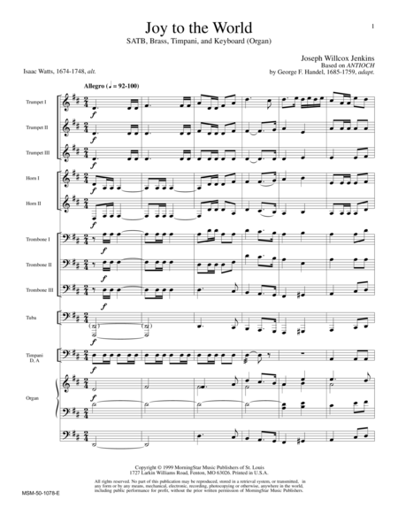 Joy to the World (Full Score)