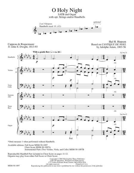 O Holy Night (Full Score)