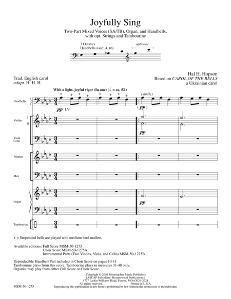 Joyfully Sing (Full Score)