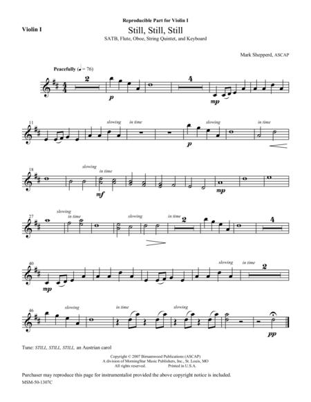 Still, Still, Still (Instrumental Parts)