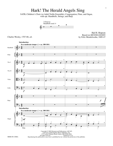 Hark! The Herald Angels Sing (Full Score)