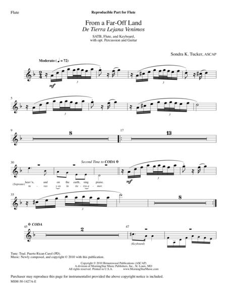 From a Far-Off Land: De Tierra Lejana Venimos (Instrumental Parts)