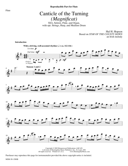 Canticle of the Turning (Instrumental Parts)