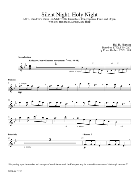 Silent Night  (Flute Part)