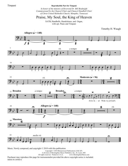 Praise, My Soul, the King of Heaven (Timpani Part)