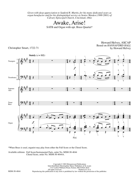 Awake, Arise! (Full Score)