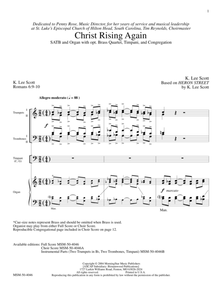 Christ Rising Again (Full Score)