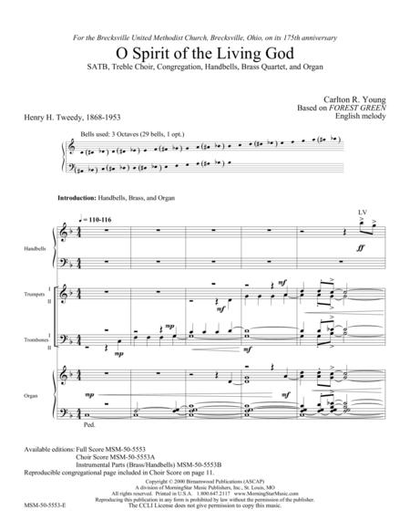 O Spirit of the Living God (Full Score)