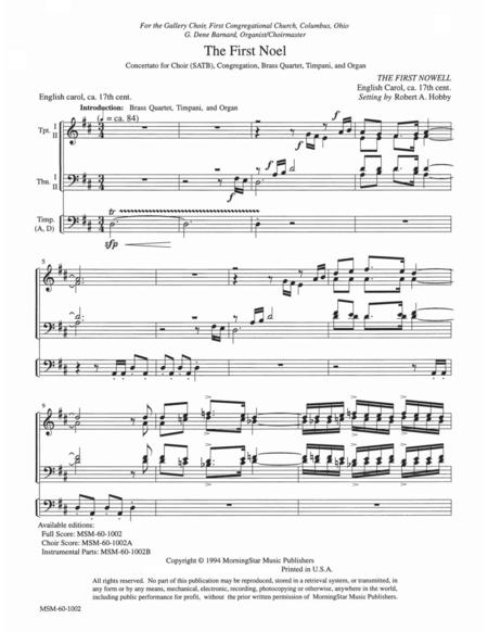 The First Noel (Full Score)