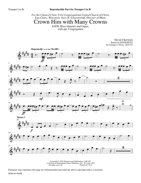 Crown Him with Many Crowns (Instrumental Parts)