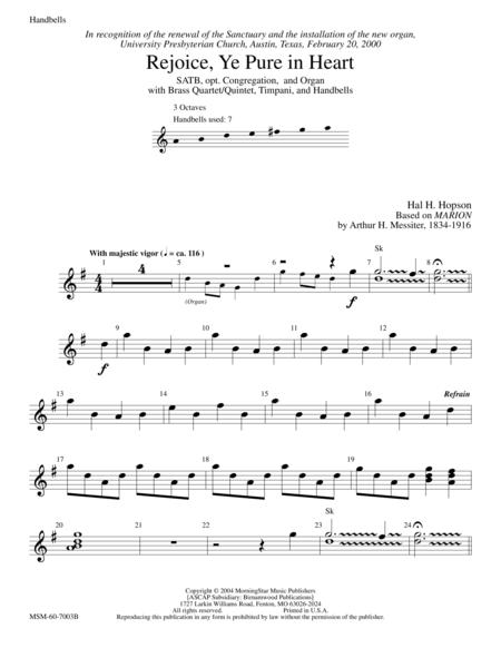 Rejoice, Ye Pure in Heart (Instrumental Parts)