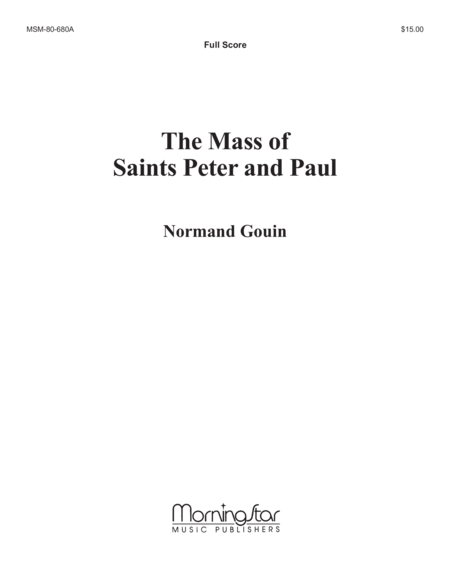 Mass of Saints Peter and Paul (Full Score)