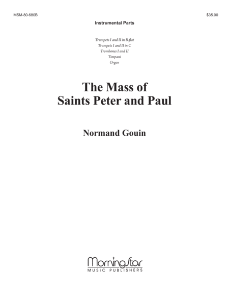 Mass of Saints Peter and Paul (Instrumental Parts)