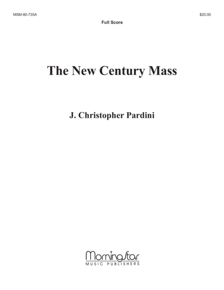 The New Century Mass (Full Score)