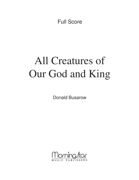 all creatures of our god and king sheet music pdf