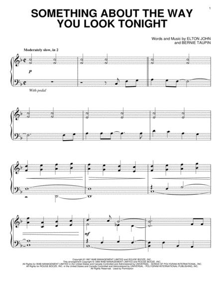 the way you look tonight sheet music pdf