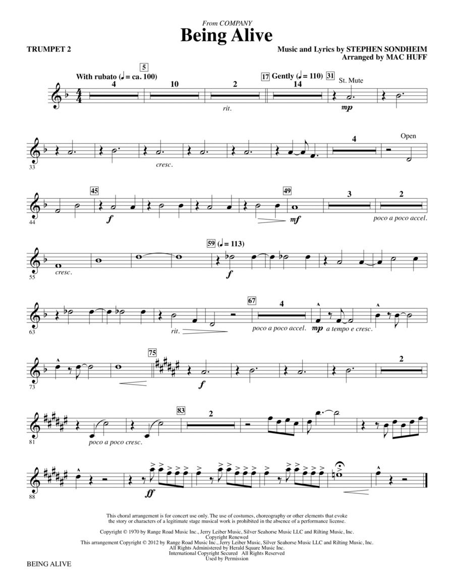 Being Alive - Trumpet 2