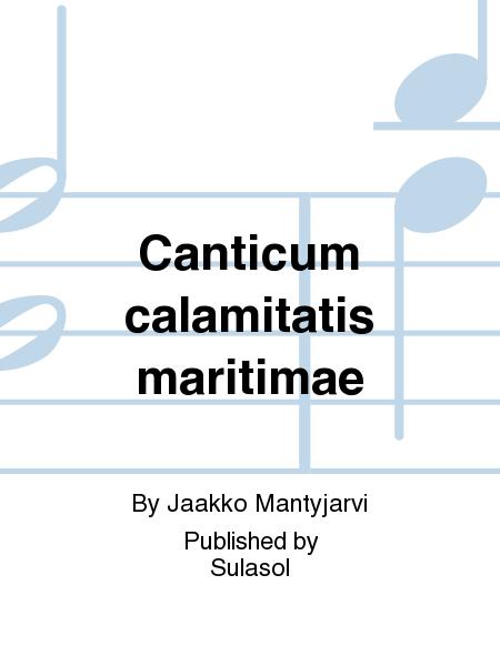 Canticum calamitatis maritimae