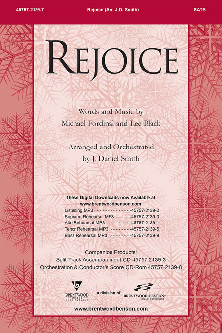 Rejoice (Orchestra Parts and Conductor's Score, CD-ROM)