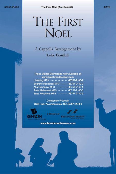 The First Noel (Split Track Accompaniment CD) (A' Cappella)