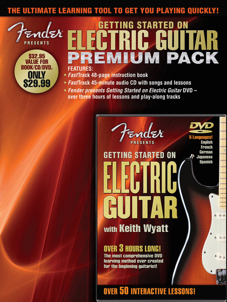 Fender Presents Getting Started on Electric Guitar - Premium Pack