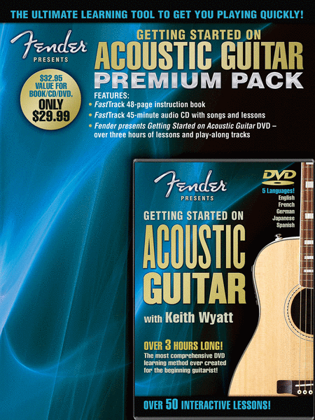 Fender Presents Getting Started on Acoustic Guitar - Premium Pack