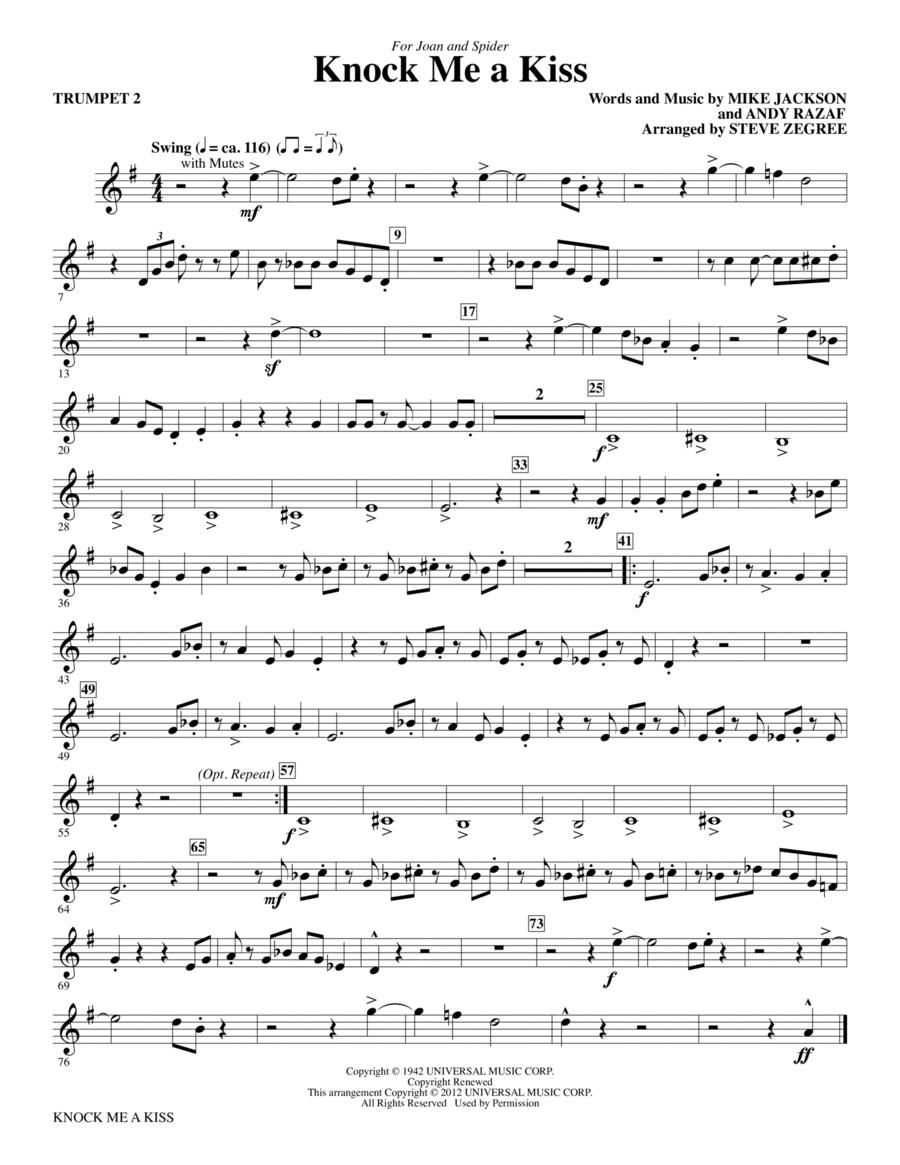 Knock Me A Kiss - Trumpet 2