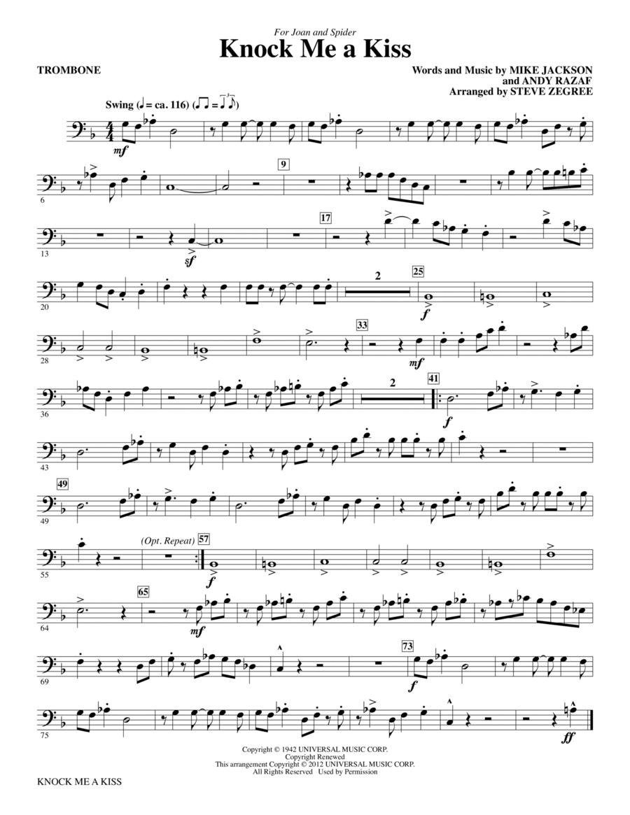 Knock Me A Kiss - Trombone