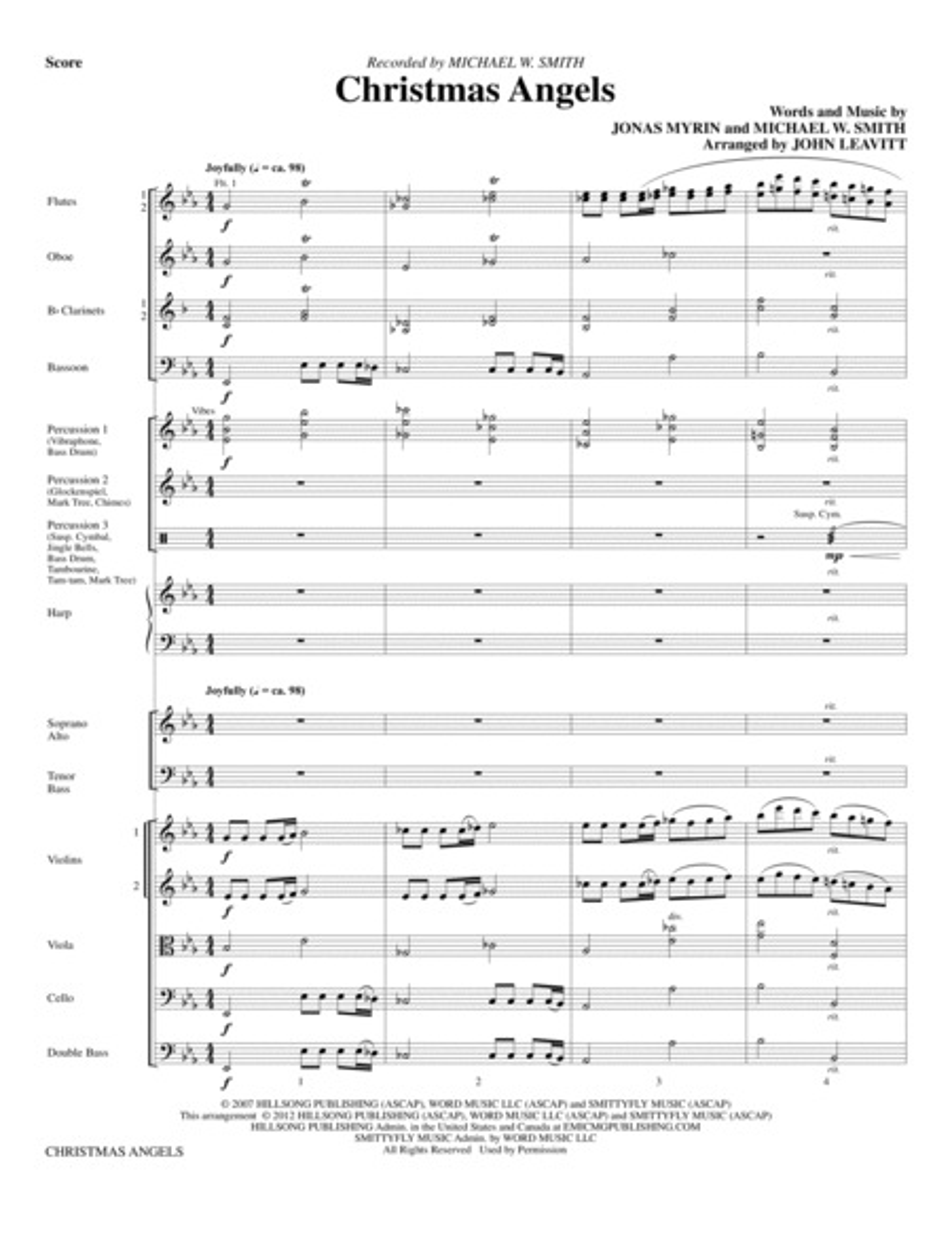Christmas Angels - Full Score