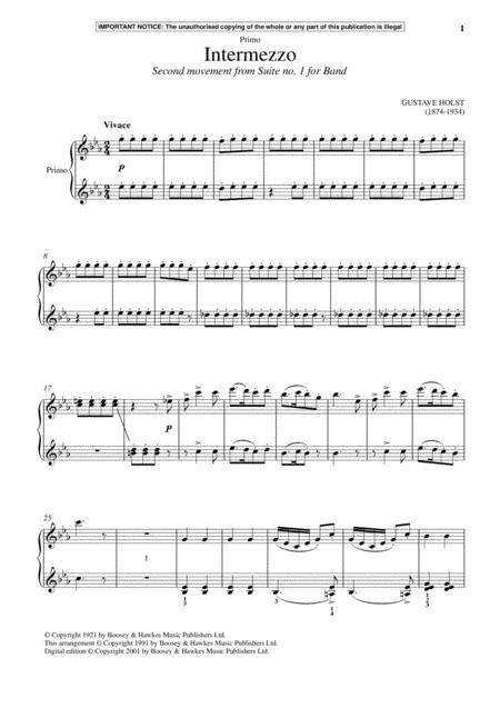 Intermezzo (Second Movement from Suite No. 1 For Band)