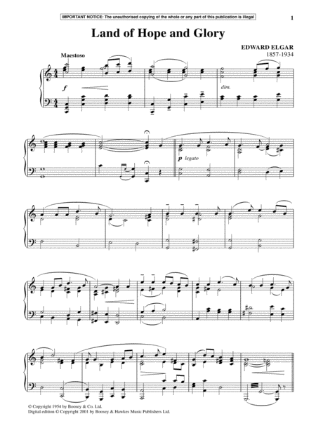 Land Of Hope And Glory  (March No. 1 from Pomp And Circumstance)