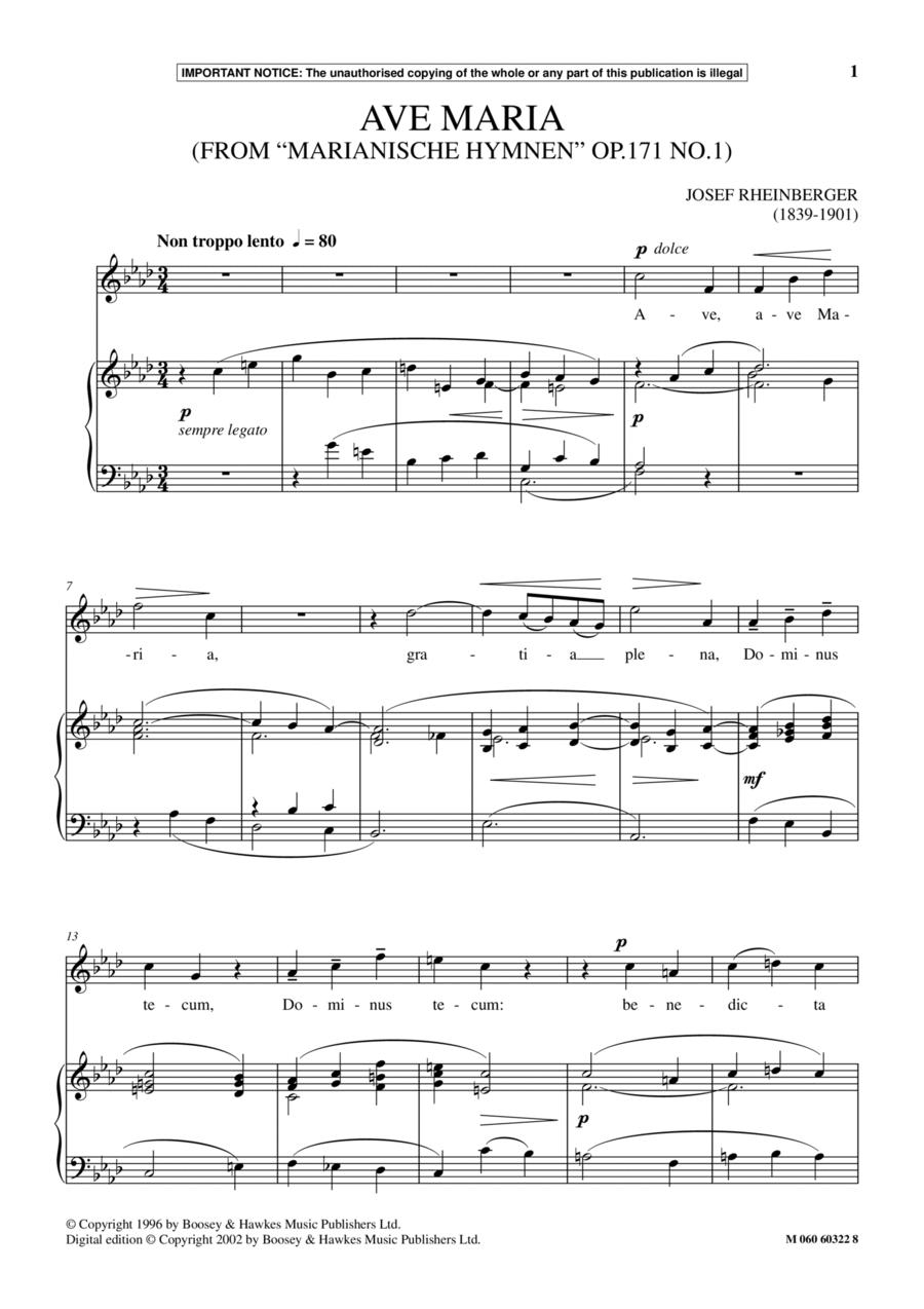Ave Maria, Op.171, No.1 (from Marianische Hymnen)