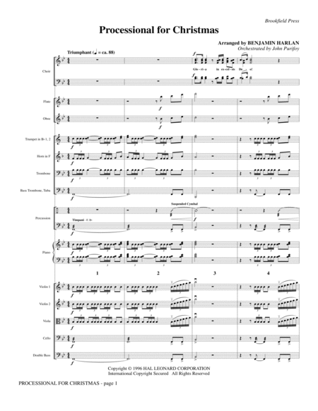 Processional For Christmas - Full Score