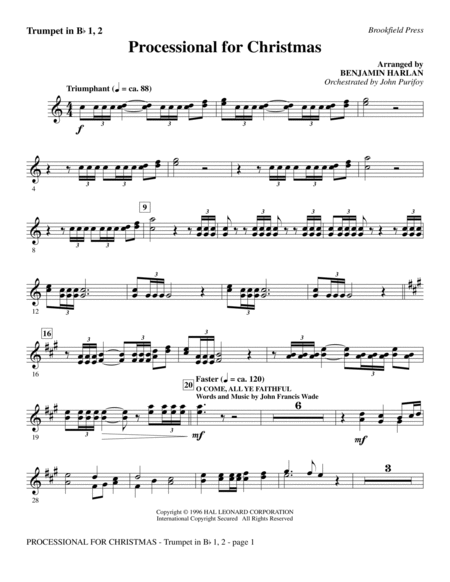 Processional For Christmas - Bb Trumpet 1,2