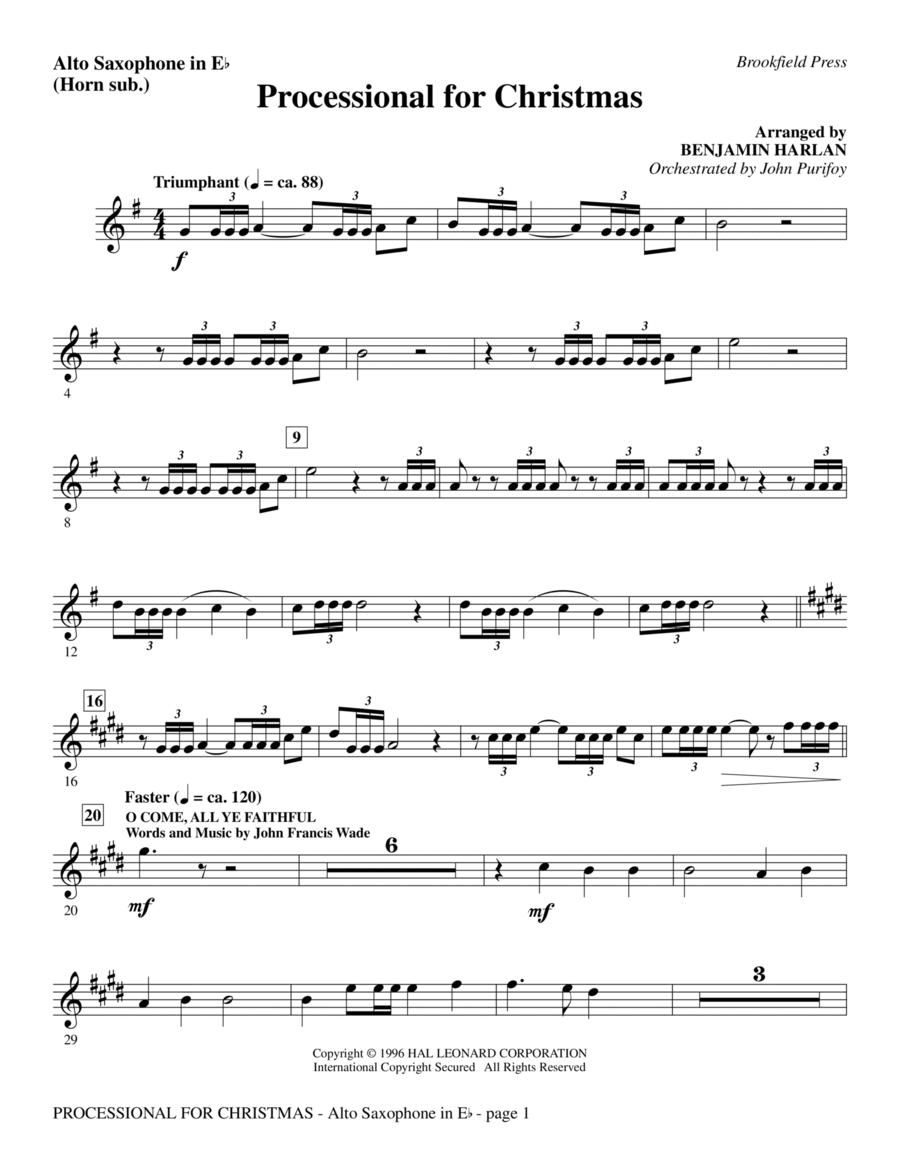 Processional For Christmas - Alto Sax (sub. Horn)