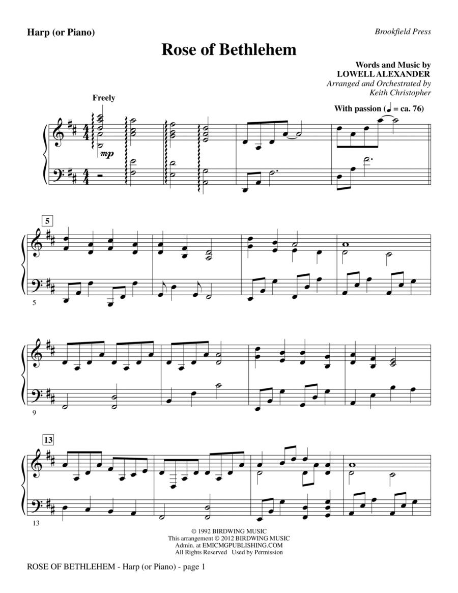 Rose Of Bethlehem - Harp (or Piano)
