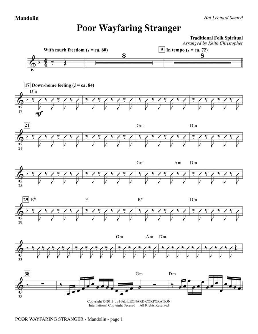Download Poor Wayfaring Stranger - Mandolin Sheet Music By Folk Song - Sheet Music Plus