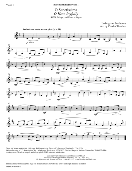O Sanctissima/O How Joyfully (String Parts)