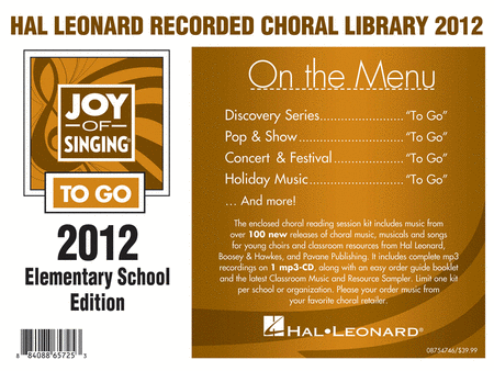 Hal Leonard Recorded Library 2012 - Elementary School Edition (Joy of Singing To Go)