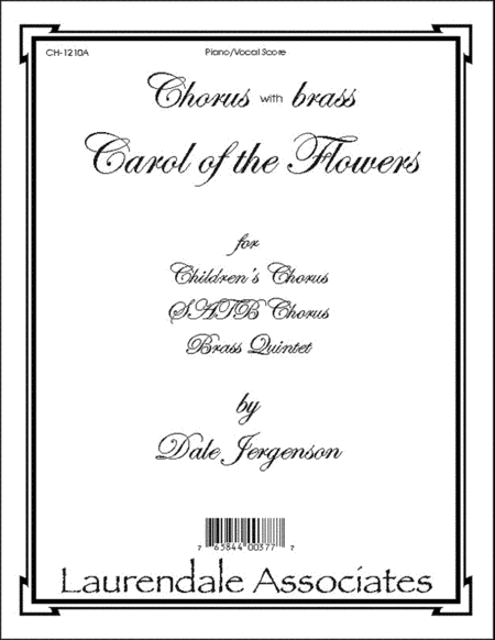 Carol of the Flowers (Choral Score)