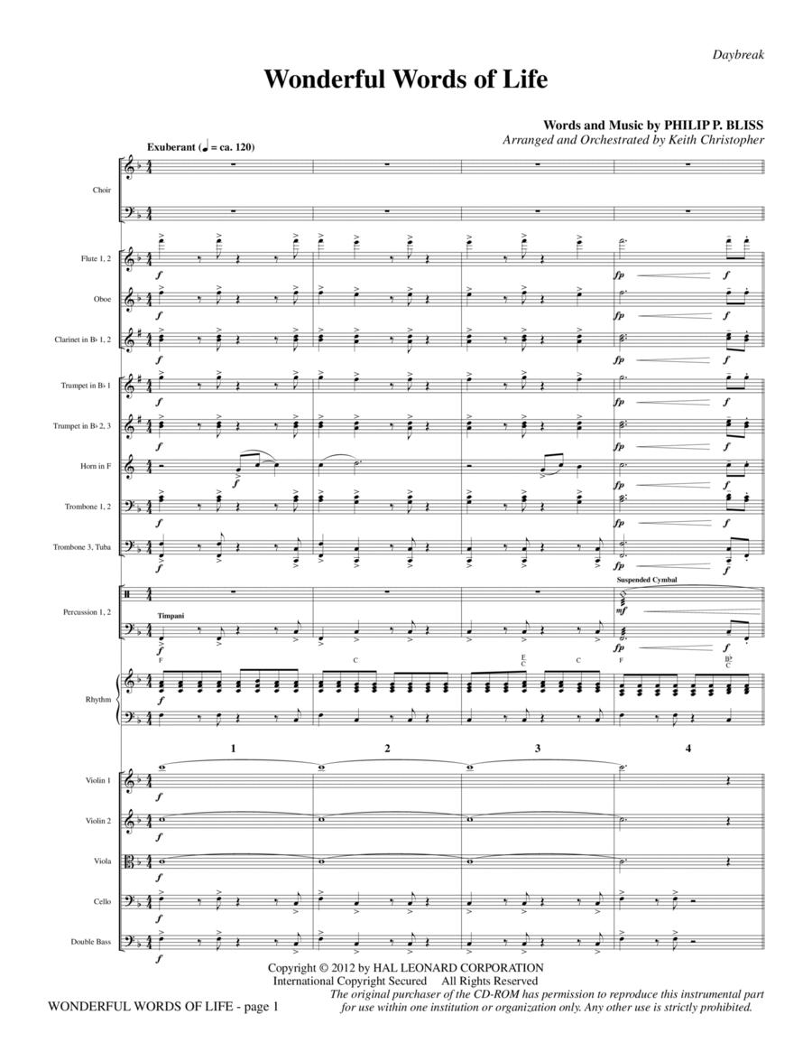Wonderful Words of Life - Full Score